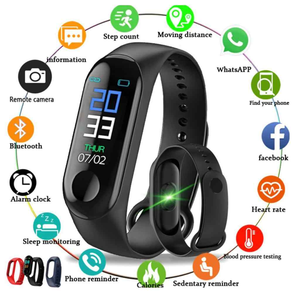 M3 Smartband Smart Band Kebugaran Tracker Smart Gelang Tekanan Darah Monitor Detak Jantung Tahan Air Smart Band Gelang Watch