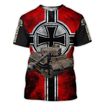Tessffel Hot Games World of Tanks Animal Tiger Tanks Funny NewFashion 3DPrint Summer Unisex T-shirts Short Sleeves Streetwear A4 2