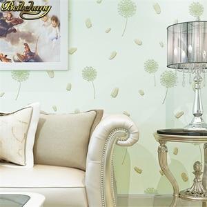 Image 4 - beibehang wall paper papel de parede 3D Non woven wallpaper warm rural dandelion living room bedroom wall paper TV background