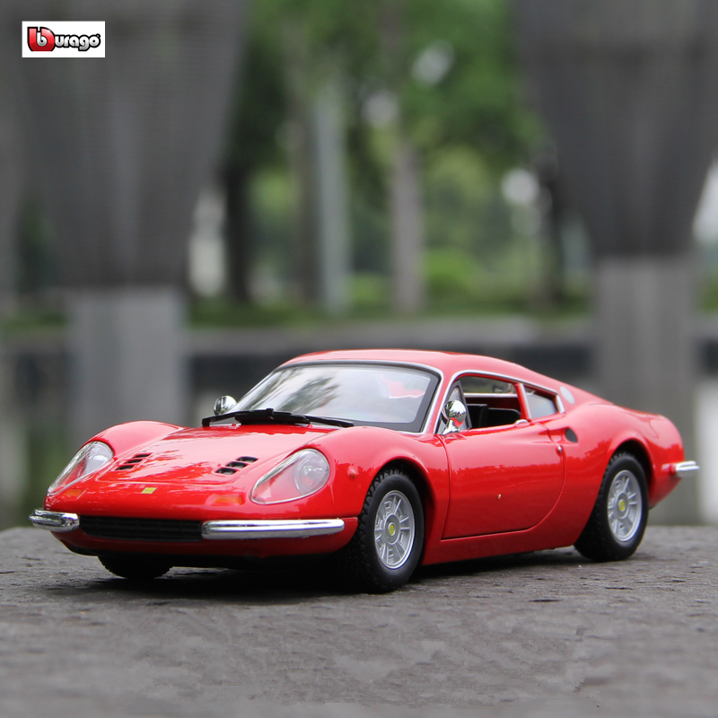 Bburago 1:24 Ferrari 246GT Collection Manufacturer Authorized Simulation Alloy Car Model Crafts Decoration Collection Toy Tools