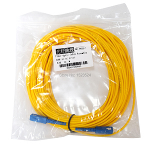Image 5 - Free Shipping SM SX 3mm 20M 9/125um Fiber Optic Jumper Cable SC/UPC SC/UPC Fiber Optic Patch Cord