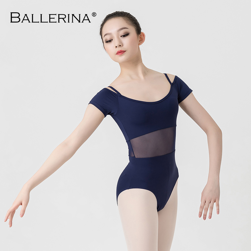 Image 5 - ballet dance Practice short sleeve leotard women Dance Costume gymnastics Sling mesh Leotards Adulto Ballerina 3541-in Ballet from Novelty & Special Use