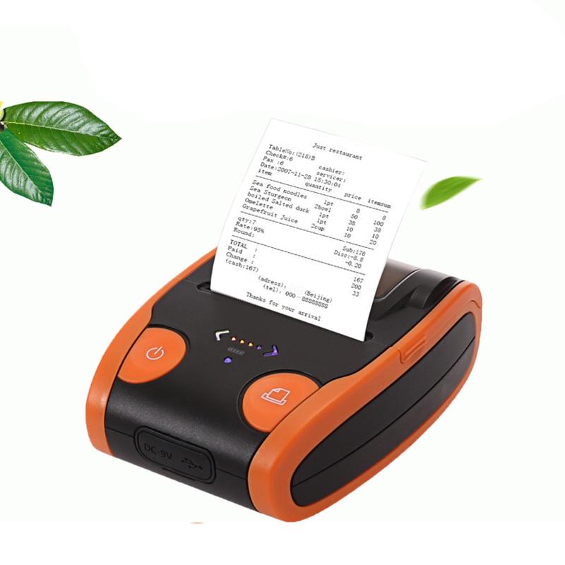 Portable Mini 58mm Bluetooth Wireless Thermal Receipt Ticket Printer for Mobile Phone Bill Machine Shop Printer for Store1 EU Pl