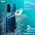 Гидрогелевая пленка с полным покрытием для хуавей Huawei P30 P40 P20 Mate 30 40 10 20 Lite Pro P Smart 2019 про, защитная пленка для экрана хонор Honor 20 Pro 9X 8X, 2 шт. защи...