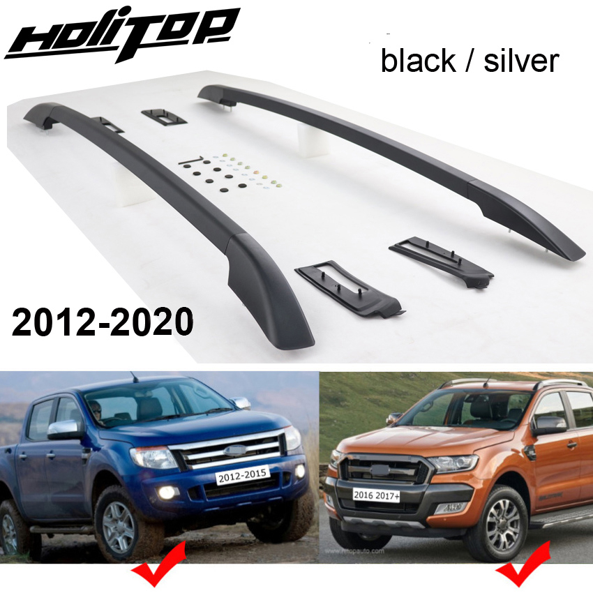 new arrival for ford ranger oe luggage bars roof rails roof rack aluminum alloy install by screws not glue quality supplier