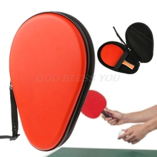 Ping Pong Paddle Case 2 Cavity Table Tennis Racket Bag Cover Durable Drop Shipping