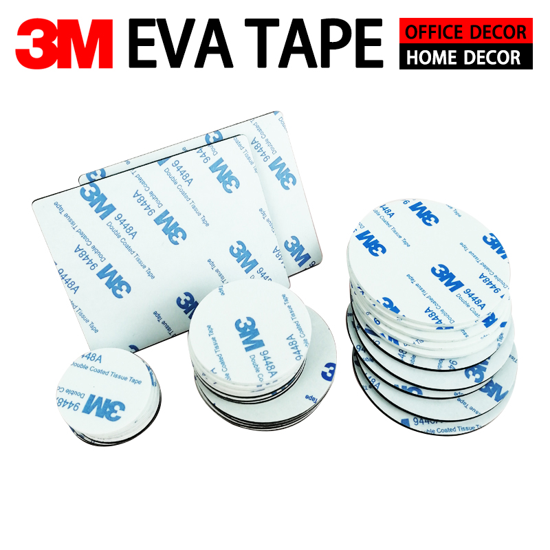 3M Foam Sponge Tape Super Strong Double Sided Adhesive Round Square Sheet Pad Mounting Sticky EVA Tape Indoor Outdoor Waterproof