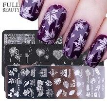 1 pièces ongles estampage plaques fleur feuilles érable Image pochoirs polonais modèle Nail Art timbre manucure disque outils CHSTZ BE/N
