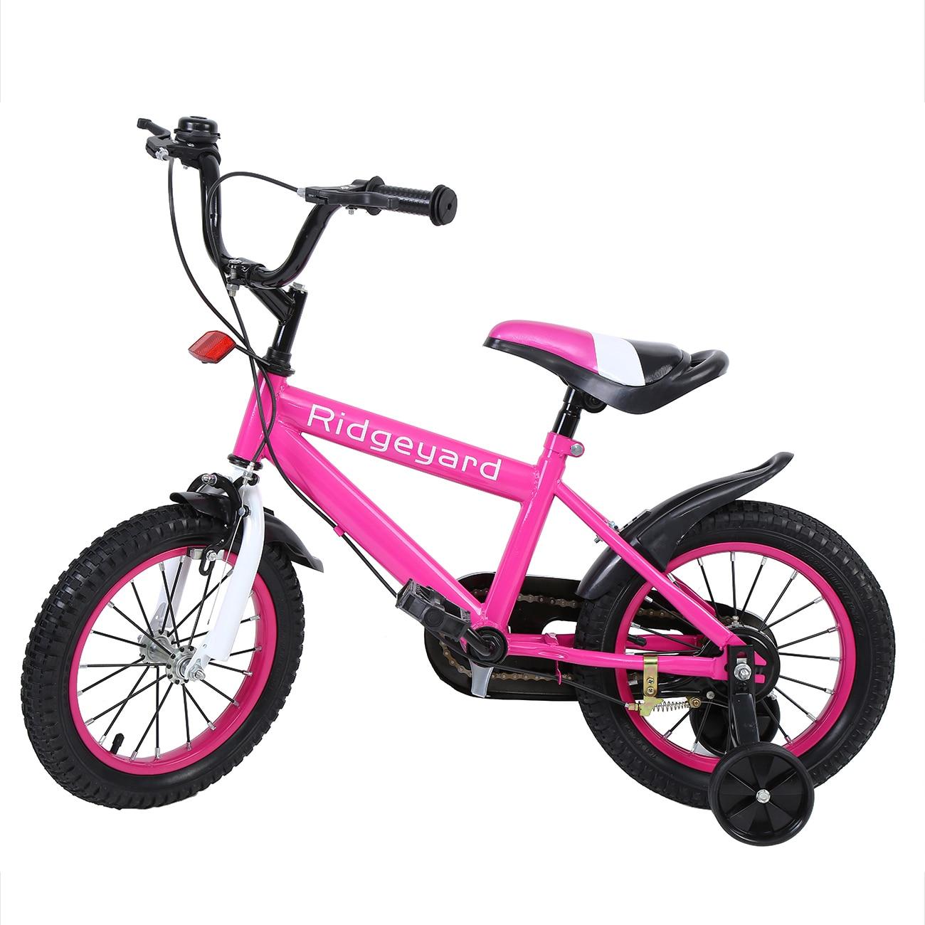 Yonntech 14 Inch Boy sGirls Bike Kid Safe Children Bicycle With Training Wheels