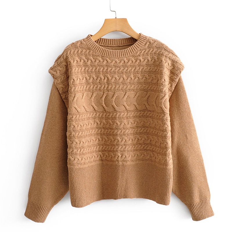 Buona Notte O Neck Criss Cross Sweaters Women Fashion Loose Solid Sweater Women Elegant Long Sleeve Sweaters Female Ladies JAE