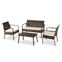 Outdoor Leisure Rattan Furniture Rattan Chair Small Four-piece Coffee Table Solid Wood Coffee Table Outdoor Furniture Set cheap Rattan Wicker CN(Origin) Modern Sun Lounger (105 x 61 x 30)cm (L x W x H) 84668712 (41 34 x 24 02 x 11 81) (105 x 61 x 30)cm (L x W x H)