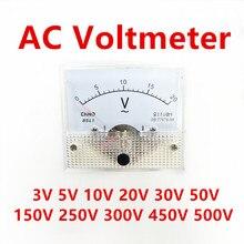 Panneau de tension analogique 85L1 AC 3V 5V 10V 20V 50V 150V 250V 300V 500V, voltmètre mécanique