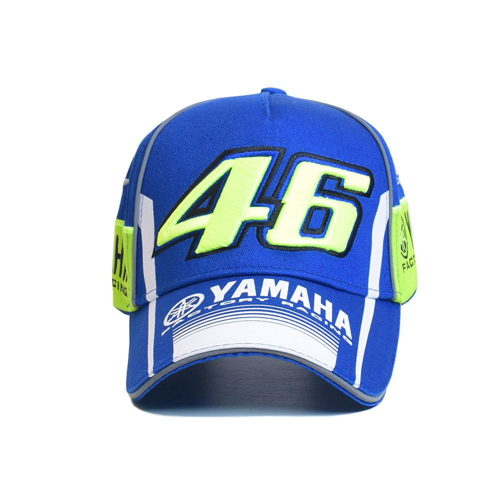 Scrambling Motorcycle 46 Yamaha Racing Cap Two Vertical Zheng Lv 46 Under White Round Y-Horizontal Side M1 Y-after 46