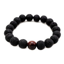 Black Lava Natural Stone Beads Bracelets for Women Vintage Design Volcanic Rock Tiger Eye Bead Strand Bracelet Men Jewelry Gifts fashion obsidian tiger eye stone bracelets for men new natural stone beads man bracelet men charm yoga jewelry gift 2020 pulsera