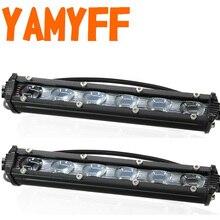 2PCS 6D 7 Inch 12V LED Work Car Light Bar Spotlight Flood Lamp Driving Fog Offroad for Ford Toyota SUV 4WD Beams