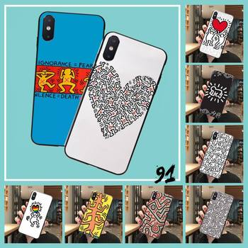 Keith Haring art Hard Coque Shell Phone Case For iPhone 8 7 6 6S Plus 5 5S SE 2020 11 11pro max XR X XS MAX image