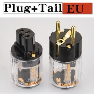Image 5 - HIFIDIY LIVE EU/US/AU ทองแดงบริสุทธิ์ทองแดงชุบ Power Plug Connector สำหรับ HIFI Audio Power Supply ตัวเชื่อมต่อสายไฟความโปร่งใส