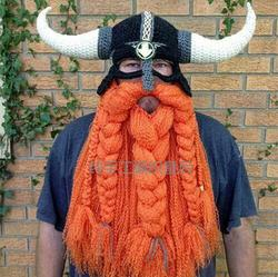 Vikinger hut Bearded Pirate cap Vikings horn kappe