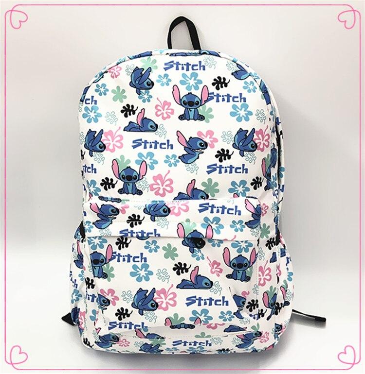 Cartoon Lilo&Stitch Shoulder Backpack Student Bag Waterproof Parent Child Bag Leisure Travel Bag