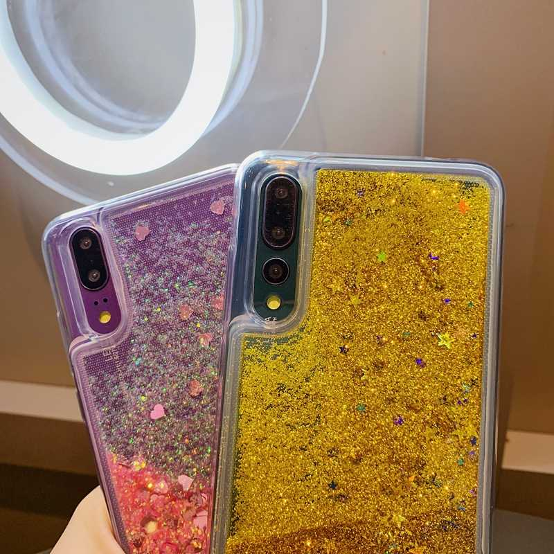 グリッター流砂ソフト TPU Huawei 社 P30 P20 メイト 10 20 プロノヴァ 3 3i 4 4e 5 5i 名誉 8 8A 9 10 10i 20 Lite のケース