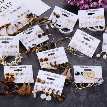 FNIO Circle Acrylic Drop Earrings Set Tassel Pearl Earrings For Women Girl Bohemian Fashion Jewelry 2020.jpg 350x350 - FNIO Circle Acrylic Drop Earrings Set Tassel Pearl Earrings For Women Girl Bohemian Fashion Jewelry 2020 Geometric Hoop Earings