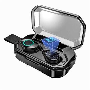 Image 5 - עדכון חדש G02 TWS 5.0 Bluetooth 9D סטריאו אוזניות אלחוטי אוזניות IPX7 עמיד למים אוזניות 3300mAh LED חכם כוח בנק