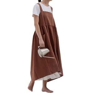 Giapponese di Cotone di Tela Cross Back Grembiule con Fibbia Regolabile per la Donna Della Ragazza di Polka Cottura Salone Vintage Regalo della Madre del Vestito