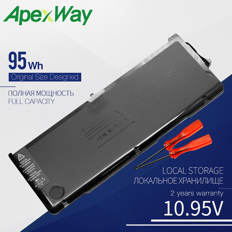 Apexway 10.95V 95Wh A1383 Battery For Apple MacBook Pro 17