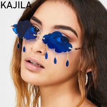 2020 Fashion Rimless Sunglasses Women Brand Designer Frameless Clouds Tassel Vintage Steampunk Sun Glasses Woman Shades Gafas