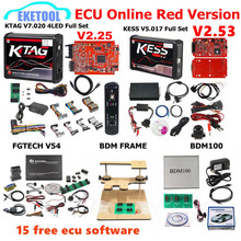 Cadre KESS V5.017/KTAG V7.020/FGTECH V54 0475/0386 BDM, cadre BDM100 1255/KTAG 5.017, 15 ECU gratuit, cadeau EU Red