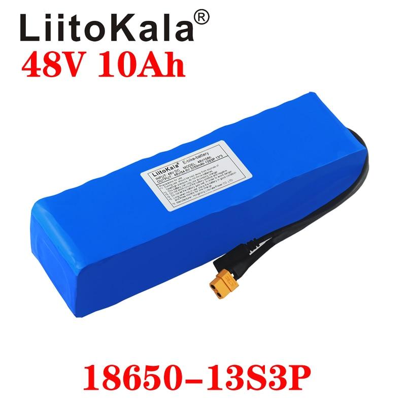LiitoKala 48V 36V Battery 48V 10Ah 12Ah Ebike Battery 20A BMS 18650 Lithium Battery Pack For Electric Bike Electric Scooter