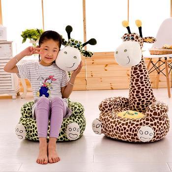 Kolorowa Sofa dziecięca zmywalna dziecięca Sofa dziecięca dowiedz się jak siedzieć krzesełko do karmienia miękka poszewka pluszowe zabawki bez wypełnienia tanie i dobre opinie Unisex Other 13-24m 25-36m Cartoon Baby Chair Baby Plush Chair cartoon Seat Without Fillers Soft Plush Toys