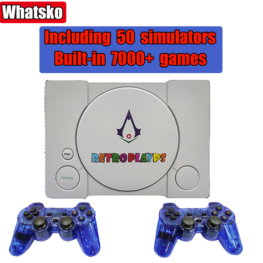 Retro Video Game Console Paspberry Pie 7000    Games 50 Simulator HD Home TV Game Player Retropi System For PS1 Double Gamepads