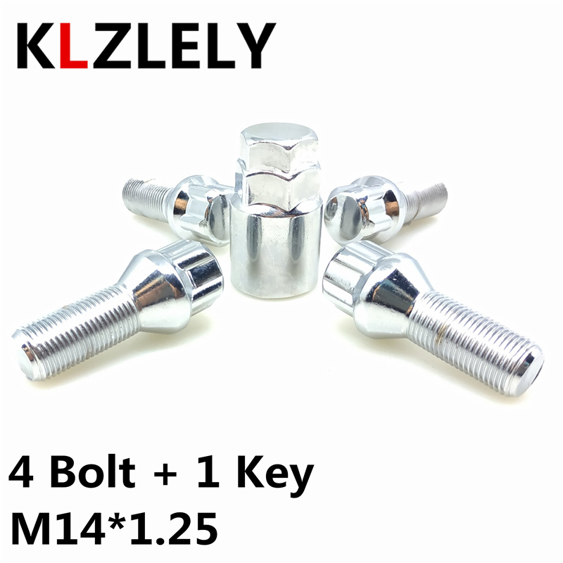 1 SET M14 1.25Wheel Lock Bolt Tires Anti-theft Screws Nut For BMW F07 F10 <font><b>F18</b></font> F11 550 528 535 530 518 520 523 i d xDrive M5 image