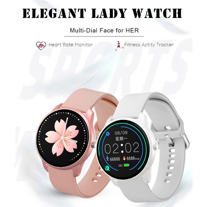 Femmes montre intelligente Sport montre étanche moniteur de fréquence cardiaque couleur écran Bluetooth montre-bracelet Fitness Tracker pour Android IOS 3