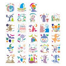 28Pcs Halloween DIY Layering Stencils Painting Scrapbook Coloring DIY Craft Art Template Stencils For Kids Jul#08(China)