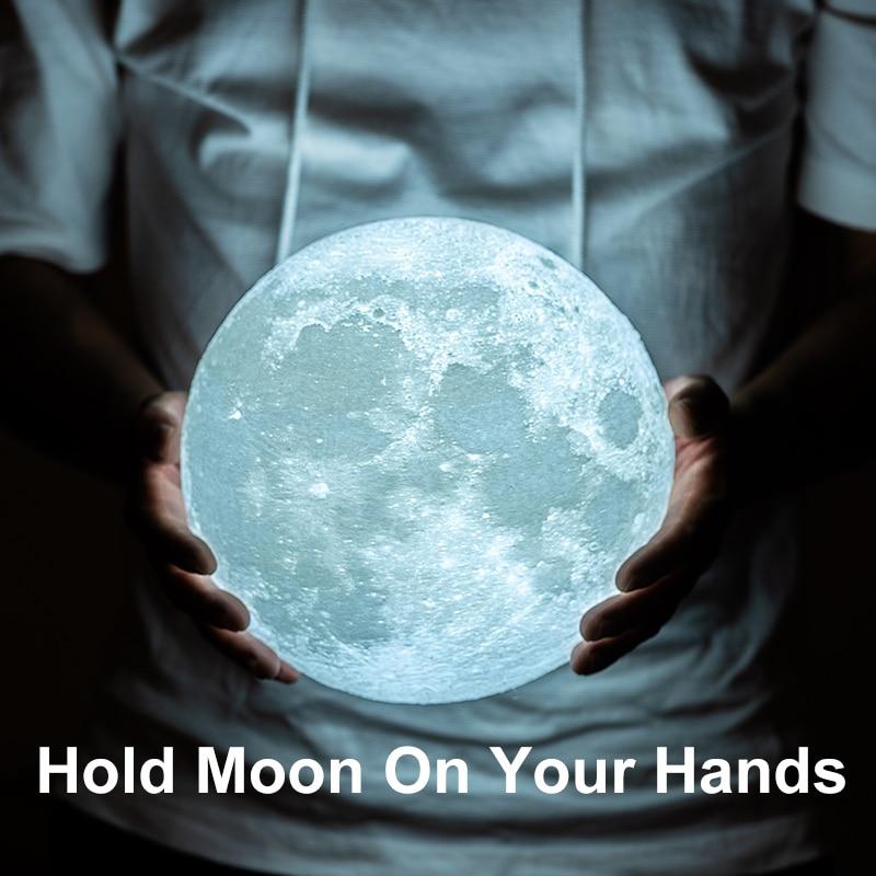 Moon Planetarium Lamp USB 3D Light Fixtures For Kids Bedroom Decoration 4