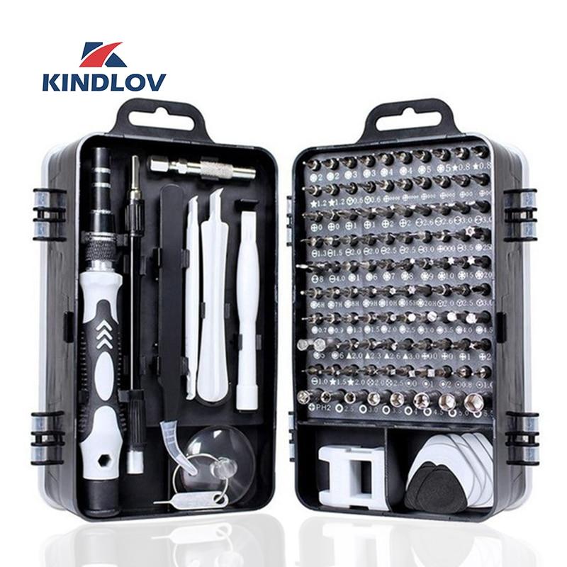 KINDLOV 112 In 1 Screwdriver Set Of Screw Driver Bit Set Multi-function Precision Mobile Phone Repair Device Hand Tools Torx Hex