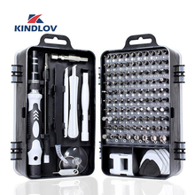 KINDLOV 112 in 1 Screwdriver Set of Screw Driver Bit Set Multi function Precision Mobile Phone Repair Device Hand Tools Torx Hex