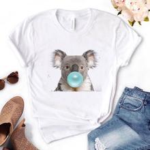 Koala Chewing Gum Print Women tshirt Cotton Casual Funny t shirt Gift For