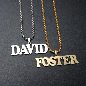 Personalized Name Necklace Name Pendant Nameplate Choker Necklace Custom Name Jewelry Any Name Christmas Gifts sideway customised double nameplate necklace personalized two name pendants jewelry family name bar necklace christmas gift