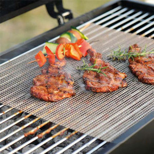 Image 1 - Non Stick BBQ Mesh Grill Mat Churrasco Barbecue Liner Roaster Tools Cooking Sheet barbacoa bbq grill accessories for outdoor