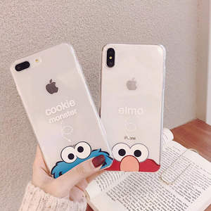 Cartoon Sesame Street iPhone Phone Case INS Online Celebrity Xs MAX for Apple 8plus Protective Case 7p Soft XR