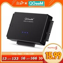 QGeeM SATA ל usb IDE מתאם USB 3.0 2.0 Sata 3 כבל עבור 2.5 3.5 כונן הקשיח HDD SSD USB ממיר IDE SATA מתאם