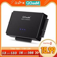 QGeeM adaptador SATA a USB IDE, Cable para unidad de disco duro HDD, SSD, convertidor USB, adaptador IDE Sata 3,0 2,0