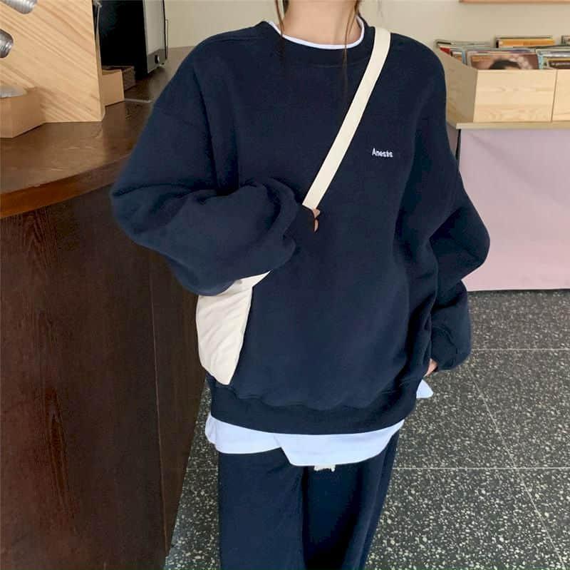 Moletom feminino pulôver 2021new padrão streetwear casual manga longa crewneck oversized moda hoodie meninas coreanas S-XXL