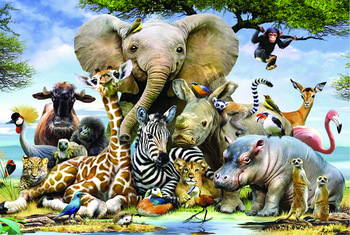 this is one of the 1000 piece jigsaw puzzles. This is of African Animals