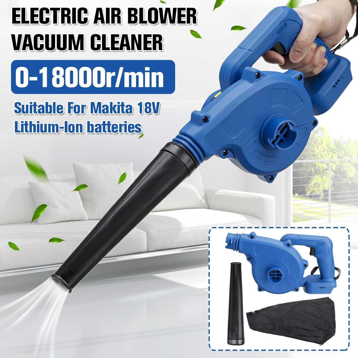 Электрический Пылесос аккумуляторный воздуходувка бытовой беспроводной пылесос инструмент для Makita 18 В литий-ионный аккумулятор для дома и...