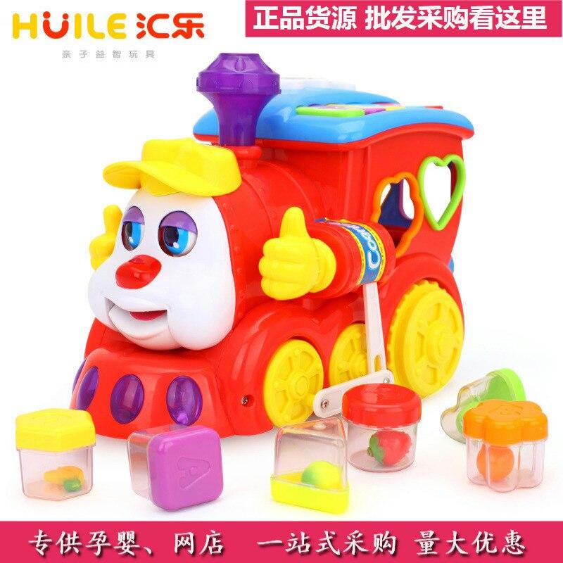 Department Of Music 556 Intelligent Question Answering Cartoon Train Children Electric Universal Train Infant Boy Toy Shape Frui