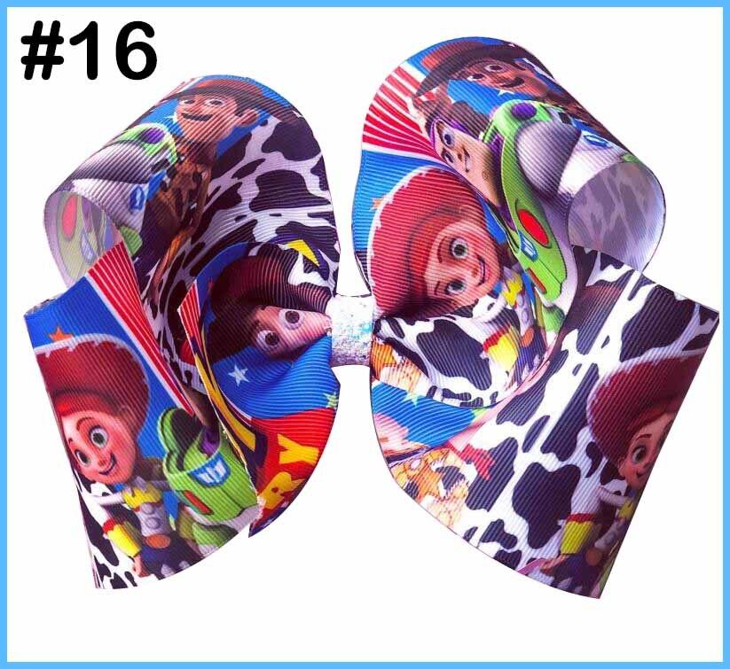 """5 шт 4,5-5,"""" История Вдохновленный персонаж W oo-dy Jess-ie B o Peep-Buzz& Al ien банты для волос - Цвет: 20190618016"""